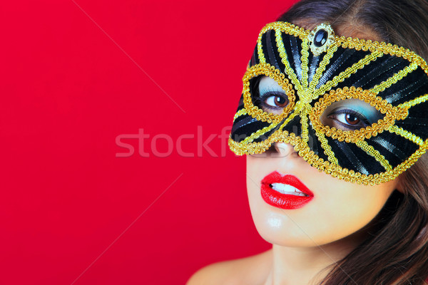 Black and gold masquerade mask  Stock photo © RTimages