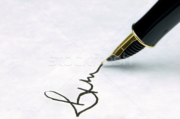 Signature Stock photo © RTimages