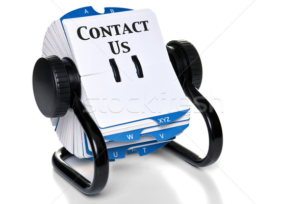 Contact Us on rotary card index Stock photo © RTimages