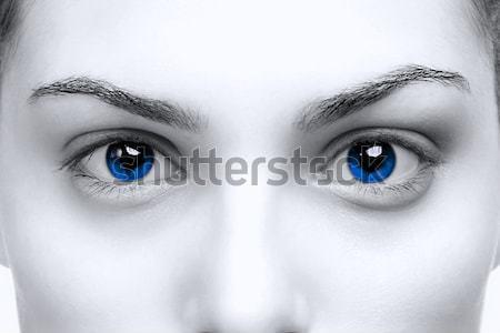 Femenino ojos azules hermosa brillante color nina Foto stock © RTimages