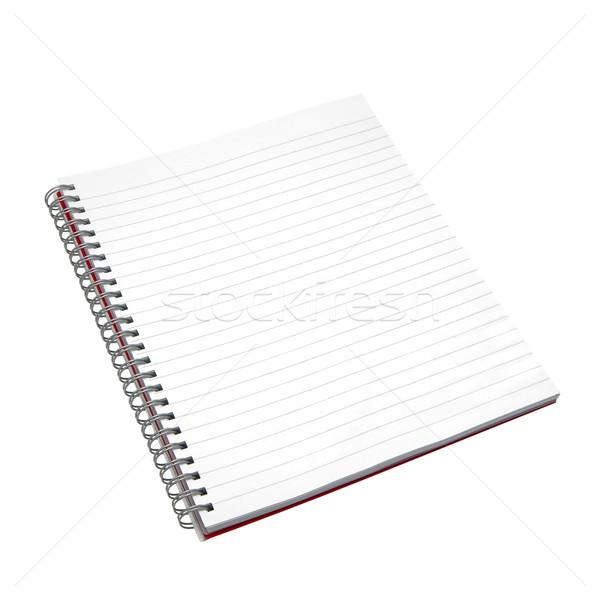 ноутбук изолированный белый подробный бумаги Сток-фото © RTimages