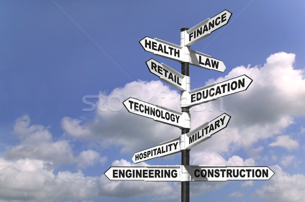 Ten career paths Stock photo © RTimages