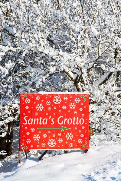 Santa's grotto sign Stock photo © RTimages