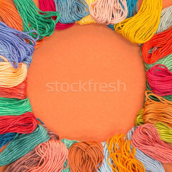 Wol exemplaar ruimte oranje Stockfoto © RTimages
