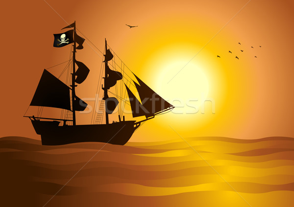 Pirata estoque vetor navio mar guerra Foto stock © rudall30