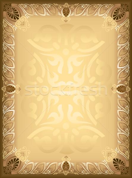 Quadro flores textura parede planta cartão Foto stock © rudall30