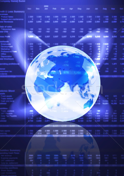 Globo azul terra dados mundo acelerar Foto stock © rudall30