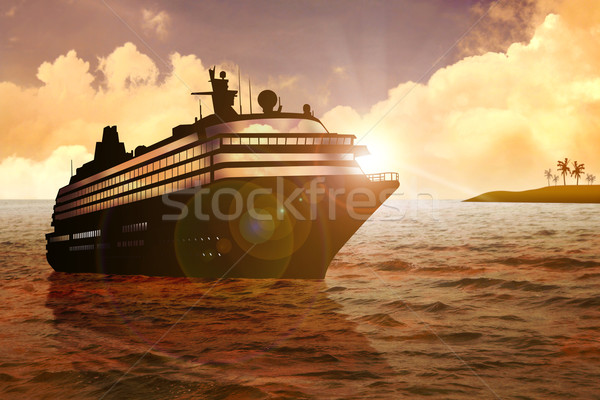 Rejs czas ilustracja wygaśnięcia morza statku Zdjęcia stock © rudall30