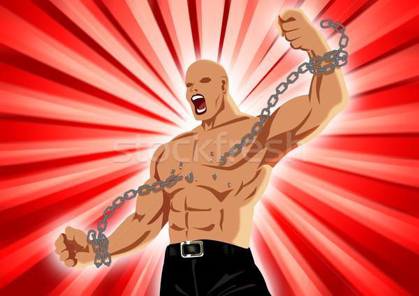 Wolności ilustracja człowiek rysunku projektu plakat Zdjęcia stock © rudall30
