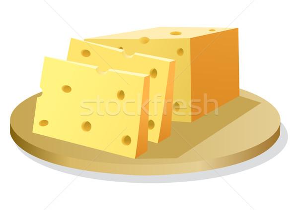 Queijo estoque vetor isolado branco comida Foto stock © rudall30
