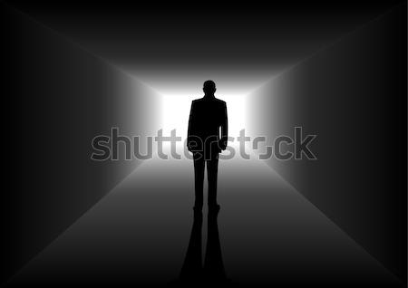 Brilhante futuro estoque imagem homem descobrir Foto stock © rudall30