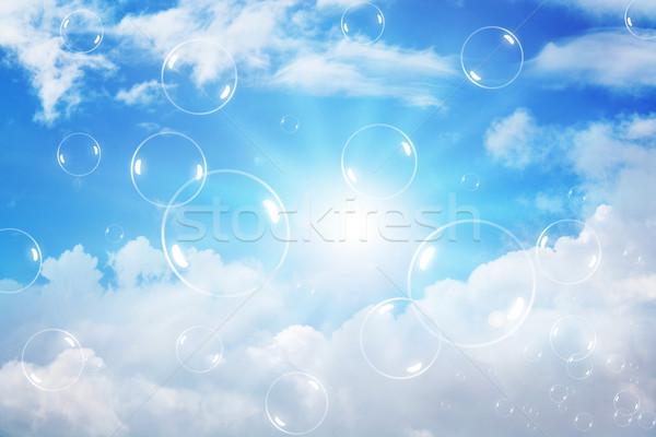 Burbujas cielo luz verano azul pelota Foto stock © rudall30