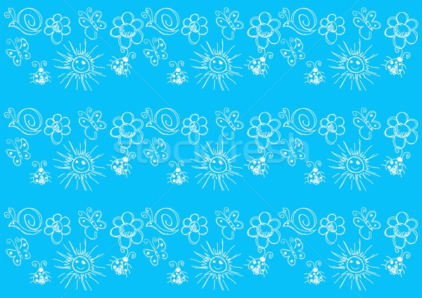 Padrão criança desenho ilustração jardim ornamento Foto stock © rudall30