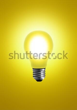Amarelo bulbo estoque imagem projeto assinar Foto stock © rudall30
