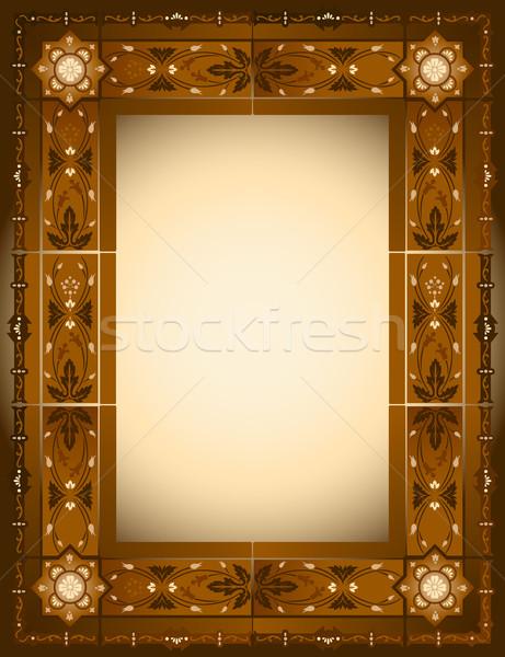 Ramki kwiaty ściany streszczenie tle portret Zdjęcia stock © rudall30