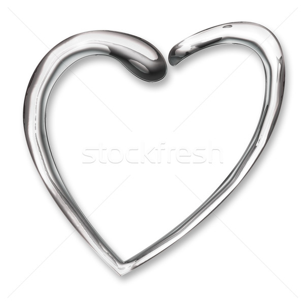 Liquido cromo cuore illustrazione wedding amore Foto d'archivio © rudall30