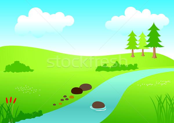 Rio ver estoque vetor cenário água Foto stock © rudall30