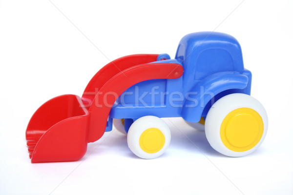 Játék buldózer modell háttér dolgozik fiú Stock fotó © rudall30