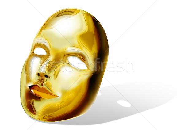 Dorado máscara stock imagen blanco cara Foto stock © rudall30