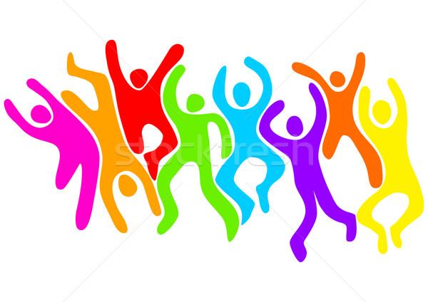 Festa abstrato ilustração saltando dança Foto stock © rudall30