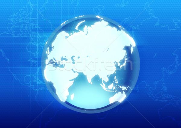 Futurista globo ilustração terra radar negócio Foto stock © rudall30