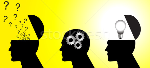 Denken procede voorraad vector lichaam lamp Stockfoto © rudall30