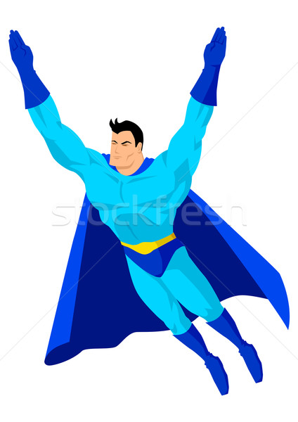 スーパーヒーロー 漫画 飛行 ポーズ ボディ デザイン ストックフォト © rudall30