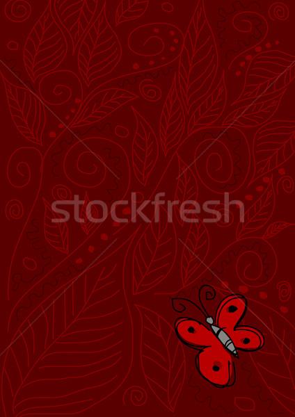 Mariposa rojo stock ilustración ornamento textura Foto stock © rudall30