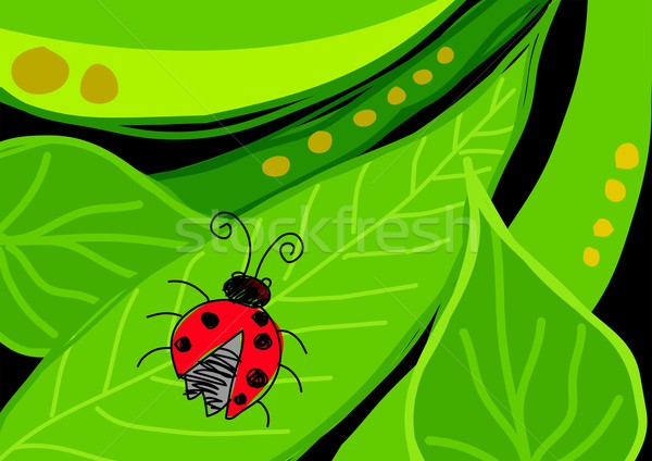 Bug laisse naïf art illustration texture Photo stock © rudall30