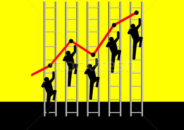 Górę ilustracja ikonowy wspinaczki drabiny wykres Zdjęcia stock © rudall30