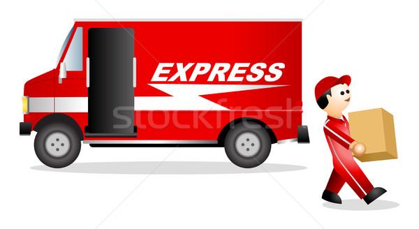 Pacote serviço ilustração icônico descobrir carro Foto stock © rudall30