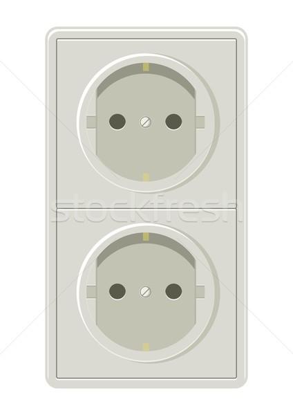Eléctrica plug stock vector arte contacto Foto stock © rudall30