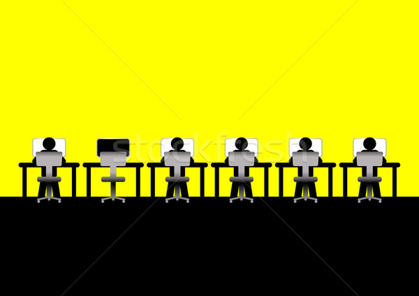 állás ikonikus dolgozik számítógépek üzlet számítógép Stock fotó © rudall30
