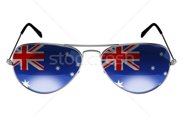 óculos de sol bandeira Austrália fundo verão retro Foto stock © rudall30