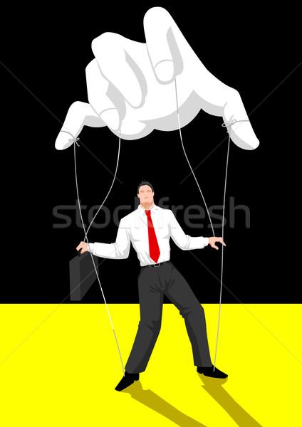 Kontroli lalek mistrz ceny człowiek biznesmen Zdjęcia stock © rudall30