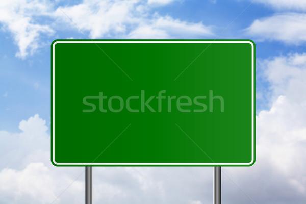 Nuvens nuvem tráfego quadro de avisos publicidade conselho Foto stock © rudall30