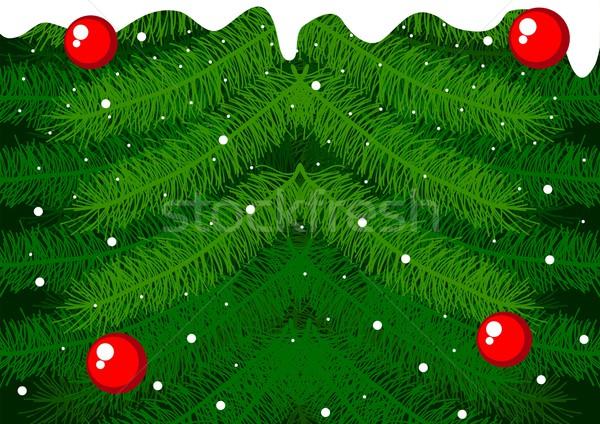 Temporada estoque vetor pinheiro natal Foto stock © rudall30