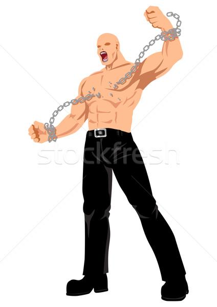 Libertad stock vector hombre arte músculo Foto stock © rudall30