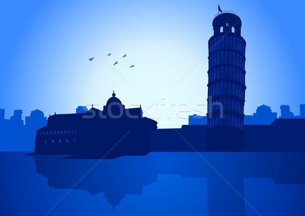 Ilustración Italia horizonte torre edificio Foto stock © rudall30