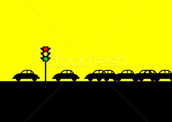 Korku ikonowy ilustracja samochodu podróży miejskich Zdjęcia stock © rudall30