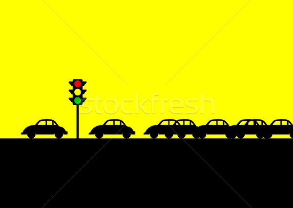 Traffic Jam Stock photo © rudall30