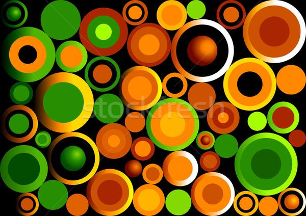 Foto stock: Retro · círculos · resumen · ilustración · diseno · arte