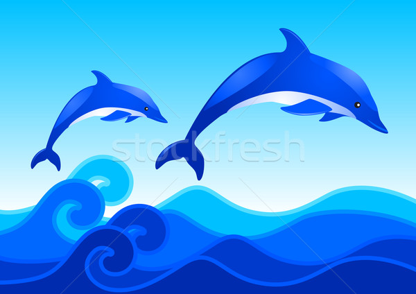 Dolphins Stock photo © rudall30