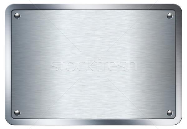 Metal prato estoque imagem isolado branco Foto stock © rudall30