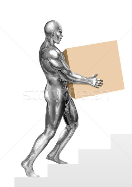 Chrom człowiek ilustracja rysunku polu Zdjęcia stock © rudall30
