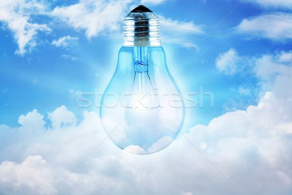 Bulbo céu sol luz projeto tecnologia Foto stock © rudall30