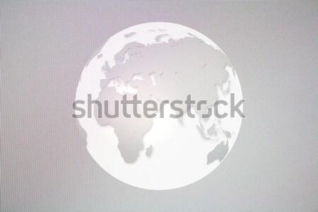 Digital mundo globo efeito lcd monitor Foto stock © rudall30