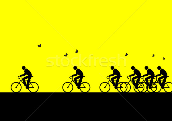 air, artistic, bicycle, bike, black, butterflies, butterfly, clean, competition, concept, cycling, d Stock photo © rudall30