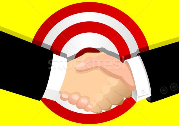 Negocios acuerdo stock ilustración hombres Foto stock © rudall30