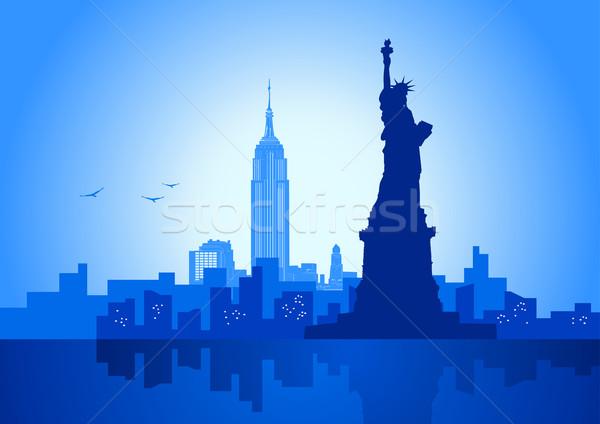 Nowy Jork ilustracja Nowy Jork panoramę miasta budynków Zdjęcia stock © rudall30
